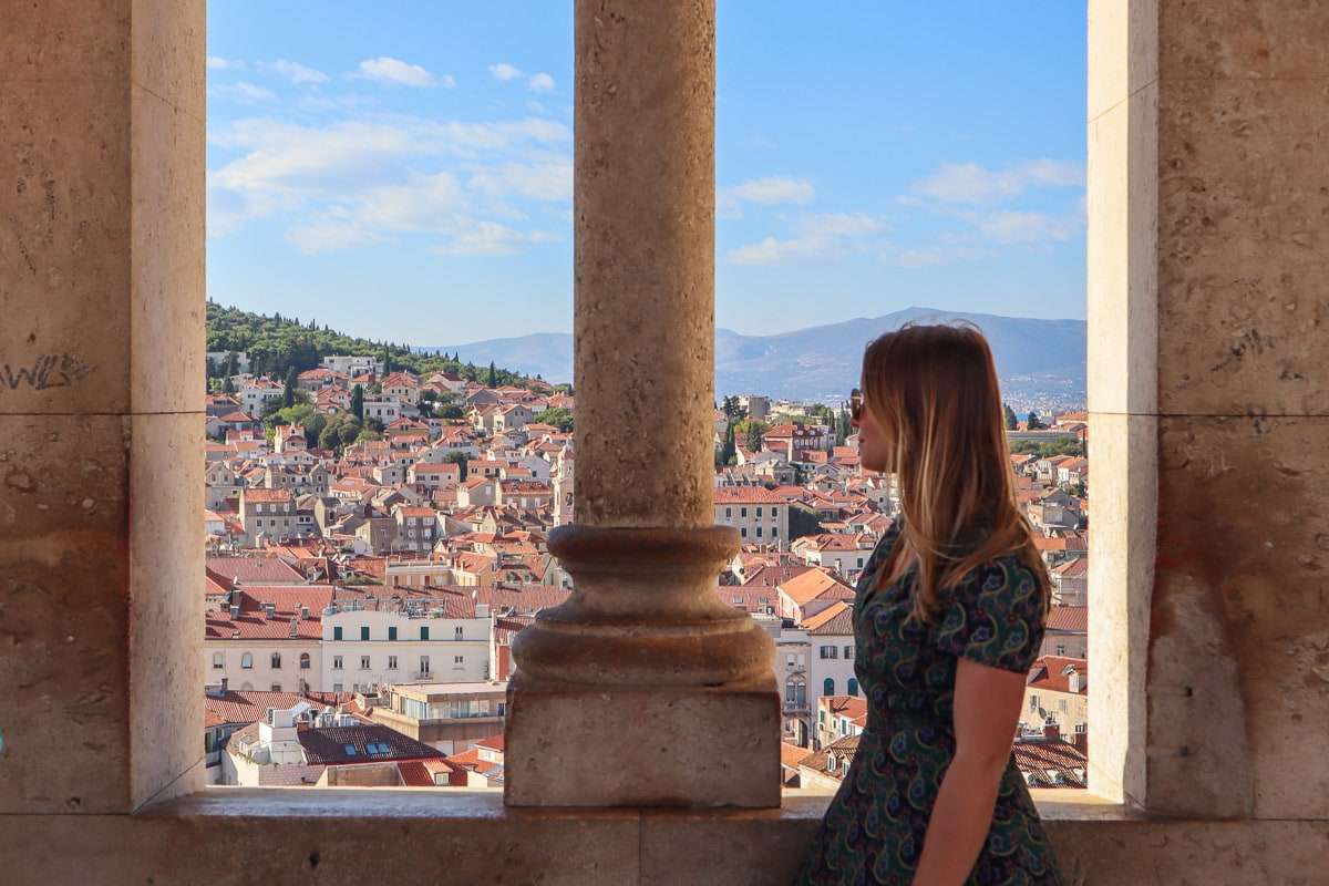 Enjoying views from Split's Bell Tower